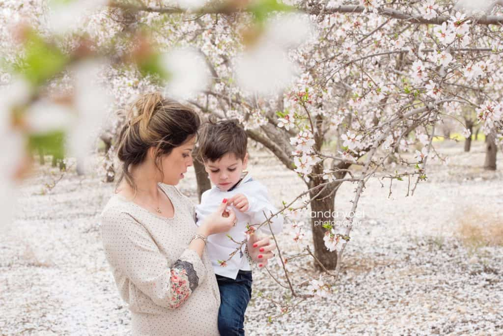 Family photo session in Almond Blossoms Orchard - Anda Yoe